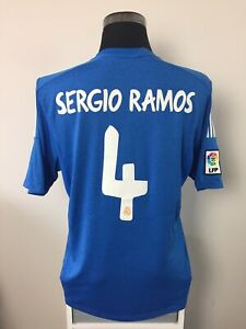 official photos 500f2 cb15f Details about SERGIO RAMOS #4 Real Madrid Away Football Shirt Jersey  2013/14 (L)