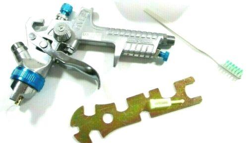 "BLUE HVLP GRAVITY SPRAY GUN 600ML CUP 1.4MM 1//4/"" AIR INLET NOZZLE  US PRO8769"