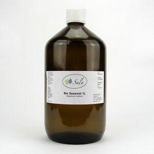 Körperpflege 19,80/l Sala Bio Sesamöl Kaltgepresst Sesam Öl Massageöl 1000 Ml 1 L Glasfl.