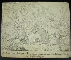 Preussen-Deutscher-um-1800-Deutschland-Print-Gravur-B