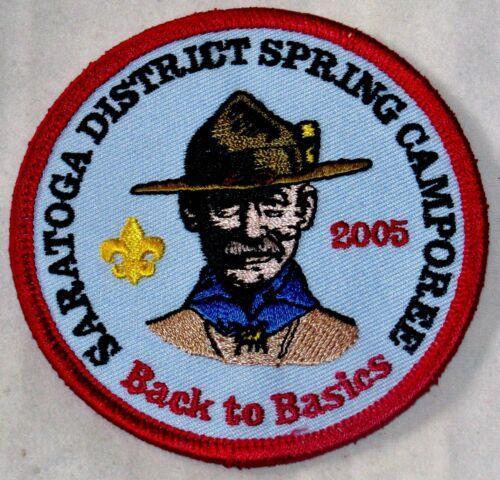 Saratoga Dist 2005 Spring Camporee Pocket Patch  BSA NY Twin Rivers Council
