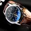 thumbnail 67 - Fashion Sport Men's Stainless Steel Case Leather Band Quartz Analog Wrist Watch