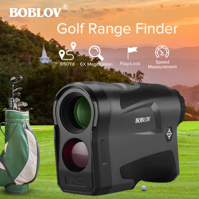 BOBLOV LF600G 6x22 Rechargeable Golf Hunting Rangefinder With Flag-Lock 650Yard