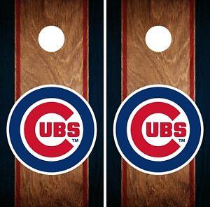 Chicago Cubs Cornhole Bag Toss Wrap Set