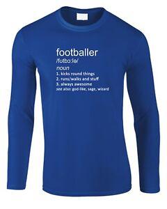 492270c5 Footballer Men's Long Sleeve T-Shirt Sport Football Soccer Gift Joke ...