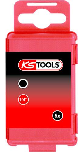 """6mm 75mm 5er Pack KS Tools 1//4/"""" CLASSIC Bit Innensechskant"""