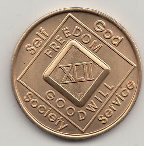 42-Years-XLII-Narcotics-Anonymous-recovery-medal-token-chip-coin