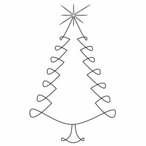 Christmas Tree Outline.Details About Gourmet Rubber Stamps Cling Stamps Christmas Tree Outline New
