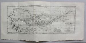 Kupferstichkarte-von-Senegal-Mali-Guinea-um-1770-Landkarte-Westafrika-sf