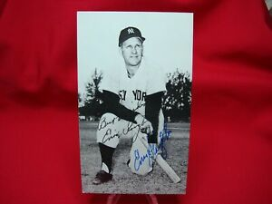 ENOS-SLAUGHTER-AUTOGRAPHED-3-1-4-034-x-4-1-2-034-PHOTO-NEW-YORK-YANKEES