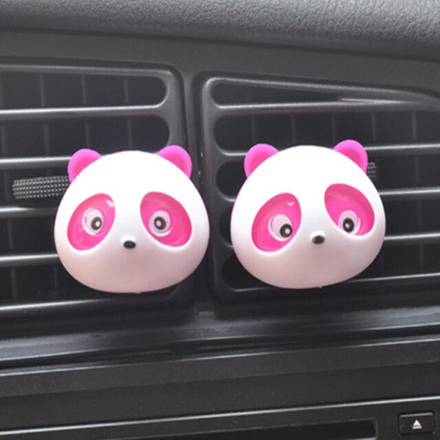 2x Panda Auto Car Perfume Air Freshener Auto Decoration Detailing Accessories