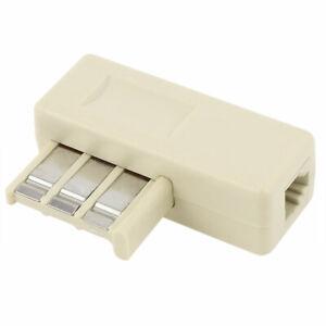 Usa-Phone-Modem-Plug-RJ11-To-Female-Male-France-F-010-Jack-Adaptor-Connector