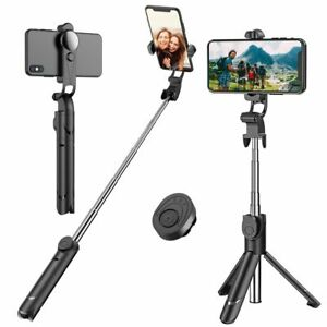 Details about Extendable Selfie Stick+Bluetooth Remote  Shutter+Tripod+360°Rotation for Phone