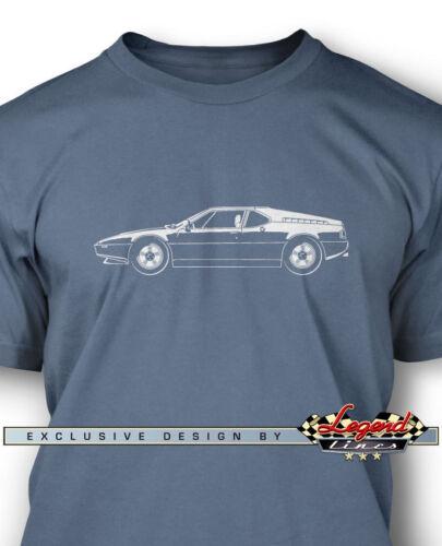 German Classic Car Multiple Colors Sizes BMW M1 E26 1978-1981 Men T-shirt