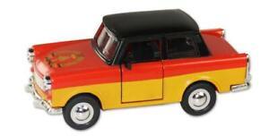Trabi-Trabant-Germany-Flagge-Farben-Modellauto-DDR-Metall-12-cm-NEU