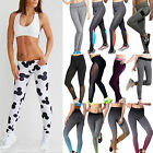 Women's Running Yoga Fitness Leggings Gym Jogging Sports Stretch Pants Trousers