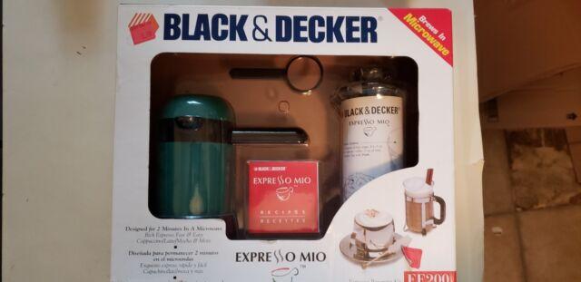 Black & Decker Expresso Mio™ EE200 Brews Espresso in Microwave BNIB College
