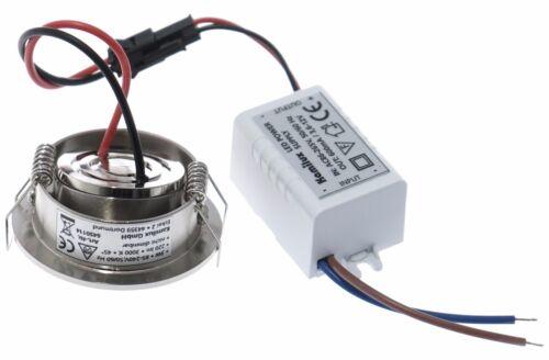 Mini-LED Einbaustrahler Ultra Flach Downlight Rostfrei Schwenkbar Kaltweiss 3W