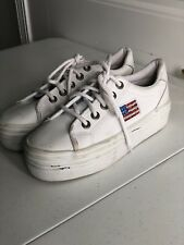 7ab39fd5b61 Steve Madden Bertie Platform Lace up SNEAKERS 536 White/white 9 US ...
