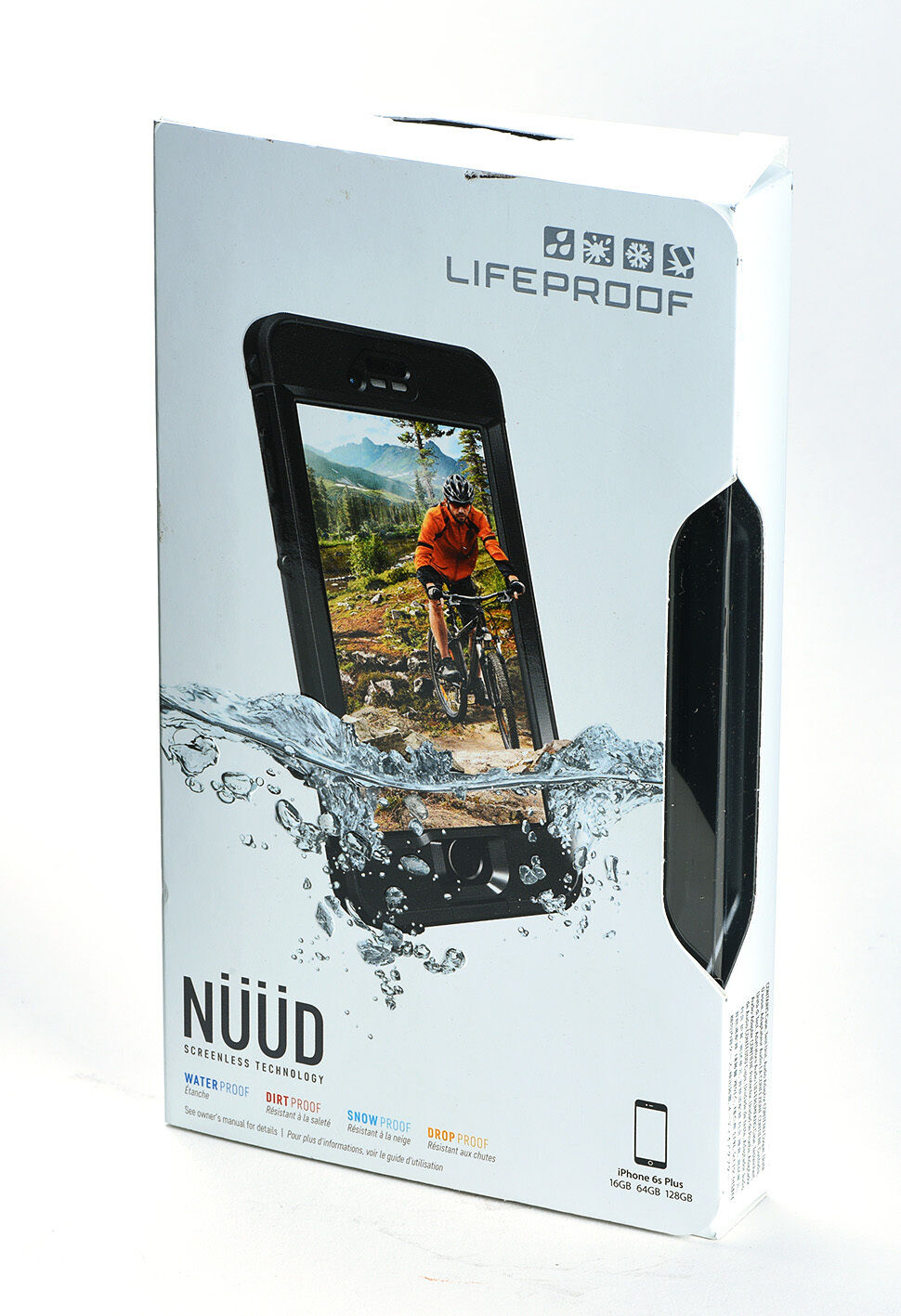 uk availability a8987 fc7e9 Details about LifeProof iPhone 6s Plus nuud Black Waterproof Water Dust  Proof Case NEW BOX