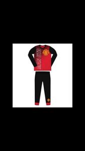 manchester united pyjamas size 4-12