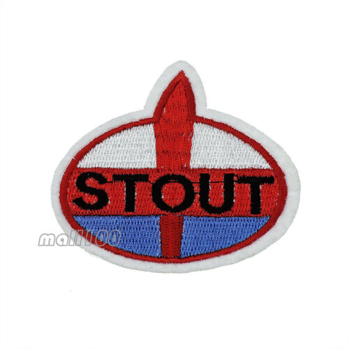 STOUT Letter Embroidered Sew on Iron on Patch Badge For Sewing DIY Applique Part