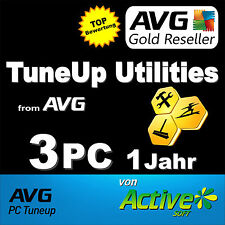 TuneUp Utilities 2017 3 PC Vollversion PAKET(1+1+1) AVG PC TuneUp DE NEU ESD