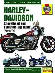 haynes repair manual harley heritage softail 1986 1990 classic rh ebay com 1997 to 1999 FLH Springer Harley-Davidson FLSTS Custom