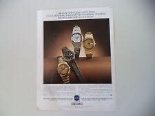 advertising Pubblicità 1979 OROLOGI SEIKO QUARTZ PER DONNA