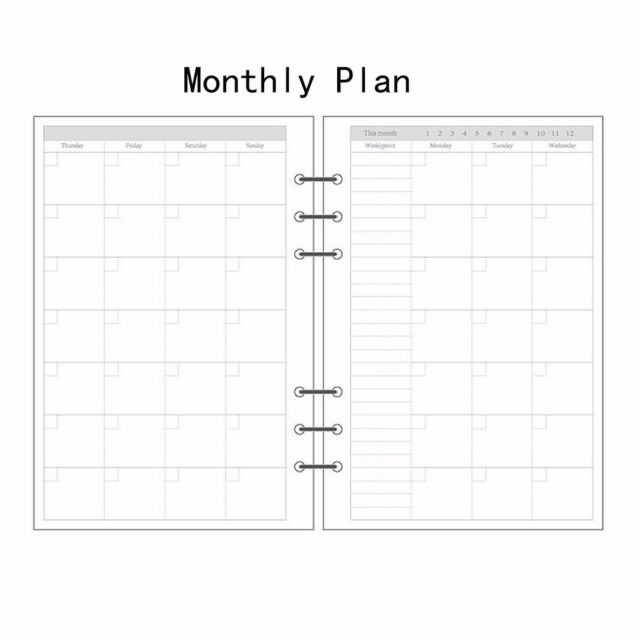 A5/A6/A7 To Do Planner Accounting Diary Refill Schedule Organiser 45Sheet #AU
