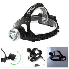 Aluminum CREE XM-L T6 LED Headlamp rechargeable Torch HeadLight 2x18650