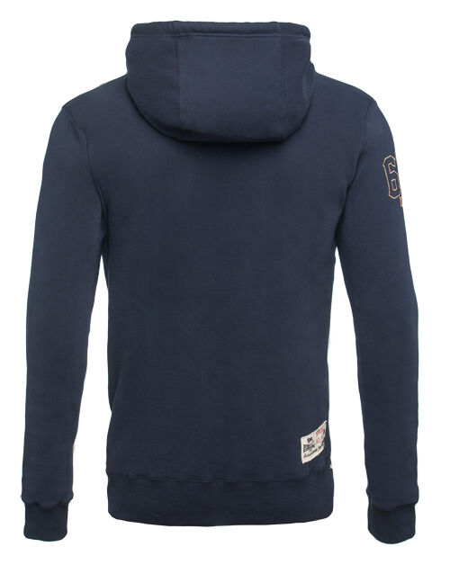 LONSDALE LONDON M TAGLIA M LONDON ZIP HOODED SWEAT-GIACCA Navy Cappuccio Giacca cheltemham 5c9088