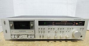 1983-estereo-de-Harman-Kardon-CD491-fase-lineal-Cassette-Deck-probado-y-de-trabajo