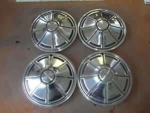 72-73-74-75-76-Plymouth-Valiant-Hubcap-Rim-Wheel-Cover-Hub-Cap-14-034-OEM-373-SET-4