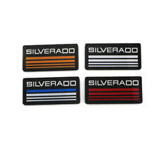 2x Silverado Cab Emblem Badge Side Roof Pillar 3d Decal Plate For Checy Tahoe