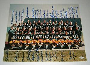1966 PACKERS SB I team signed 16x20 photo 33 AUTOS Bart Starr Taylor Hornung JSA