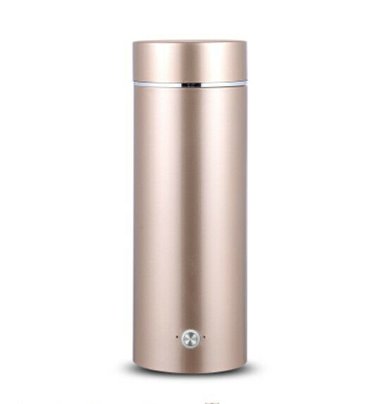 golden Stainless Steel Rechargeable Mini 300W 0.35L Electric Kettle Height 21CM