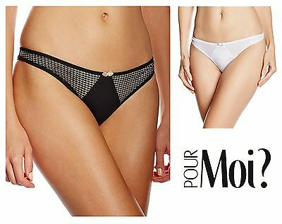New Lingerie Pour Moi Signature High Waist Brief Knickers 8706 Black or White