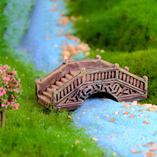 Simulation Brücke Harz Miniatur Figur Fee Garten Dekor Micro Landschaft  PDH