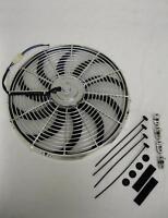 16 Chrome Street Rod Electric Cooling Fan S-blade Fans 2400 Cfm