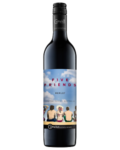 Five-Friends-Merlot-2015-case-of-6-Dry-Red-Wine-750mL-Central-Ranges-NSW