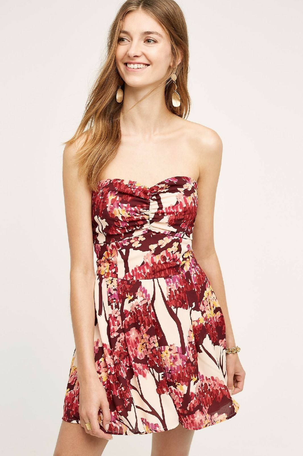 a08fb6ad7a50 NEW Anthropologie Crown Red Nara Romper 188 Size Small Paper Women s  nppvvn6764-Jumpsuits   Rompers
