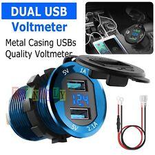 12v 24v Car Marine Motorcycle Led Digital Voltmeter Voltage Meter Battery Gauge