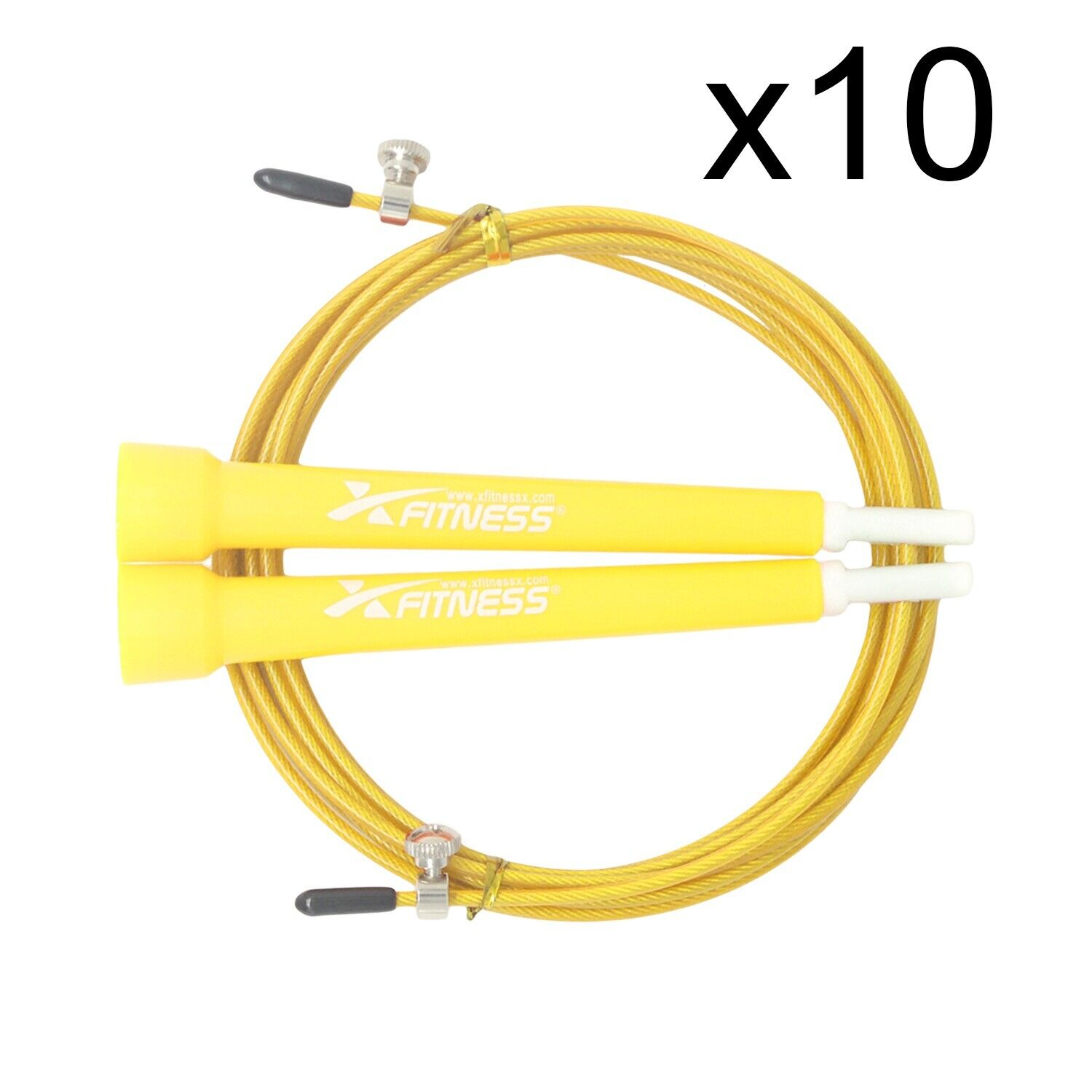 Lot of 10 gituttio Speed Wire Adjustable Jump Rope for autodio Crossfit scatolaing Gym