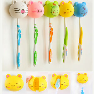 6Colors-Lovely-Cartoon-Animal-Head-Toothbrush-Holder-Stand-Cup-Mount-Suction