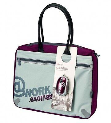 "Trust 17640 Oxford 16"" Notebook Bag & Mouse Bundle- Bolsa Maletín + Ratón Optico"