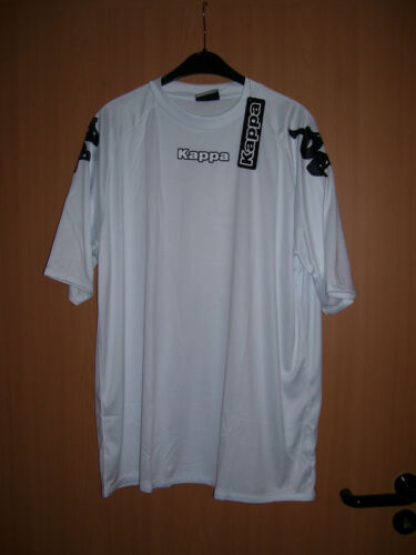 Kappa Shirt T-Shirt Catane weiss weiß Trikot-Qualität Kurzarm Grösse XXL 2XL neu