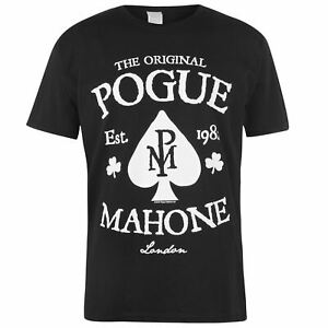 Mens-Crew-Neck-Shirt-Official-Band-T-The-Pogues-Tee-Top-Short-Sleeve-New