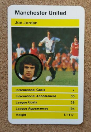 Top Trumps Single Card Manchester United Football Club 1970s 80s Various Players