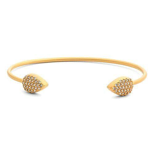 Freida redhman's Pave Teardrop Tipped Open Bracelet